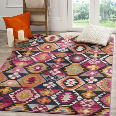 Haywood Yellow/Pink Area Rug Rug Size: Rectangle 8 x 11
