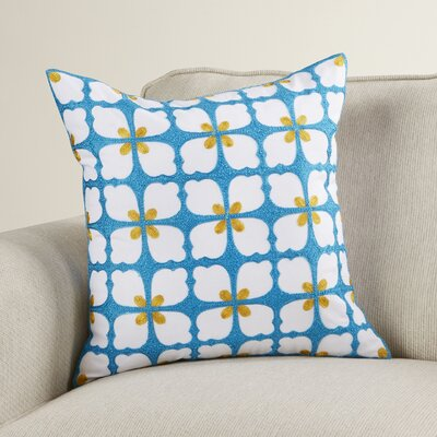 Groenlo Floral Cotton Throw Pillow