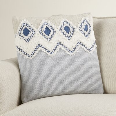 Charles Frayed Look Cotton Throw Pillow
