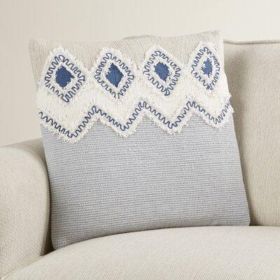 Camden Frayed Look Cotton Throw Pillow