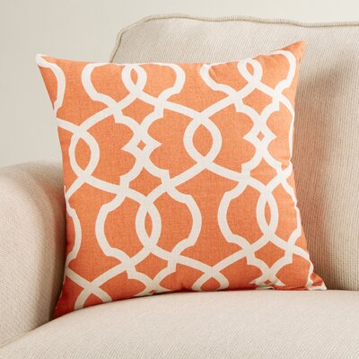 Alberts Damask Throw Pillow Size: 16.5