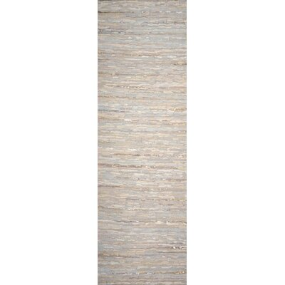 Hali Hand-Woven Gray Area Rug Rug Size: Runner 26 x 8