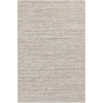 Hali Hand-Woven Gray Area Rug Rug Size: Rectangle 5 x 76