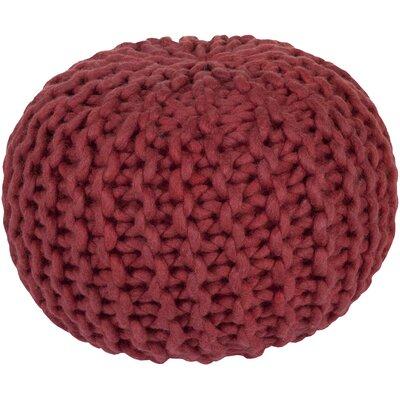 Jabari Pouf Ottoman Upholstery: Cherry