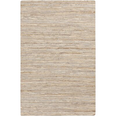 Hali Hand-Woven Khaki Area Rug Rug size: Rectangle 5 x 76