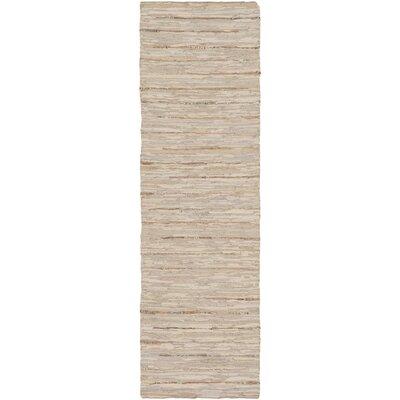 Hali Hand-Woven Khaki Area Rug Rug size: Runner 26 x 8