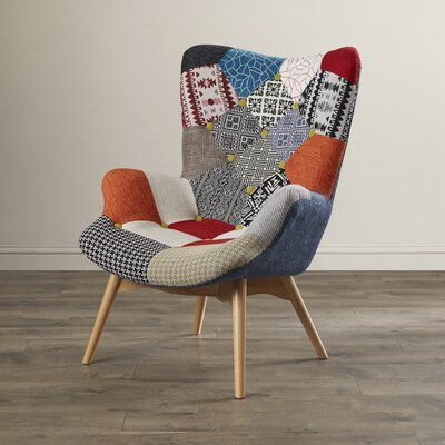 Malini Button Patchwork Upholstered Lounge chair