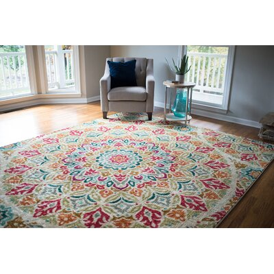 Albion Red Indoor Area Rug Rug Size: 76 x 10