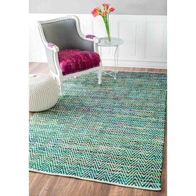 Hughes Hand-Woven Green Area Rug Rug Size: Rectangle 2 x 3