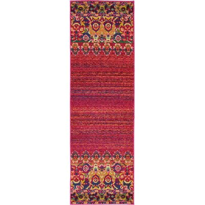 Rialto Red Area Rug Rug Size: Rectangle 2 x 7