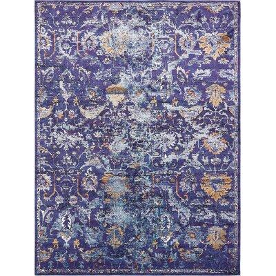 Koury Purple Area Rug Rug Size: 9 x 12