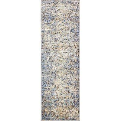 Koury Light Blue/Beige Area Rug Rug Size: Runner 22 x 67