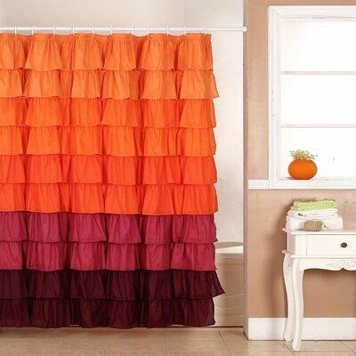 Bahriya Shower Curtain Color: Red
