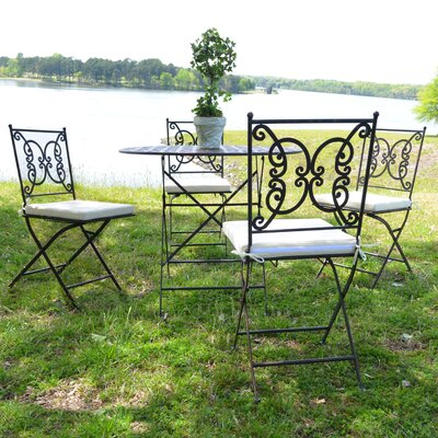 Emilio 5 Piece Metal Bistro Set
