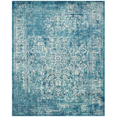 Elson Blue/Ivory Area Rug Rug Size: Rectangle 8 x 10