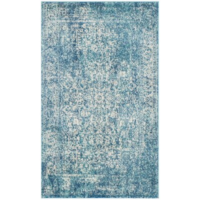 Elson Blue/Ivory Area Rug Rug Size: Rectangle 3 x 5