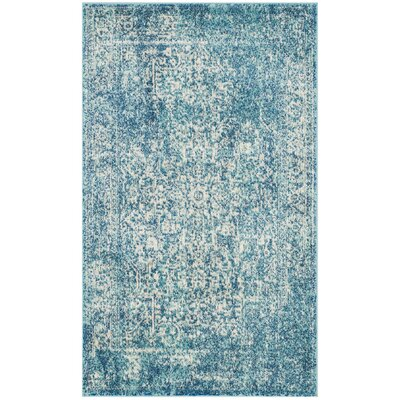 Elson Blue/Ivory Area Rug Rug Size: 3 x 5