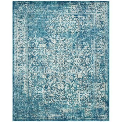 Elson Blue/Ivory Area Rug Rug Size: 8 x 10