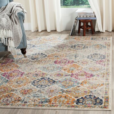 New Caledonia Cream Area Rug Rug Size: 23 x 12