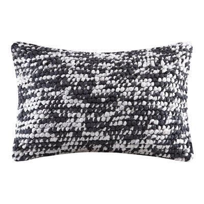 Azura Handloom Lumbar Pillow Color: Charcoal