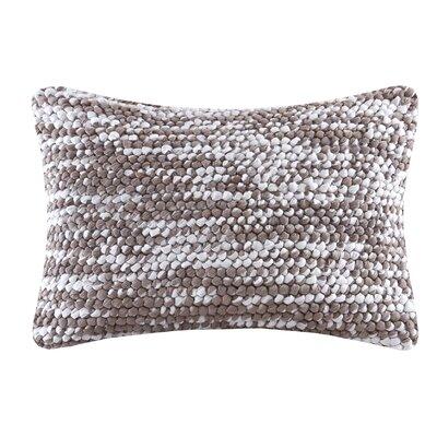 Azura Handloom Lumbar Pillow Color: Gray