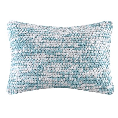 Azura Handloom Square Lumbar Pillow Color: Blue