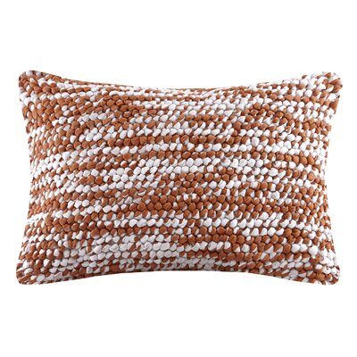Azura Handloom Square Lumbar Pillow Color: Orange