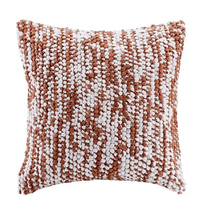 Azura Handloom Throw Pillow Color: Orange