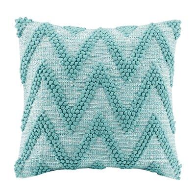 Azura Handloom Cotton Throw Pillow Color: Aqua