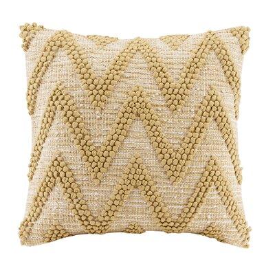 Azura 100% Cotton Throw Pillow Color: Tan