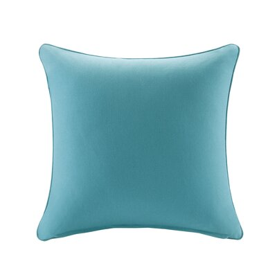 Azura Outdoor Throw Pillow Size: 20x20, Color: Aqua
