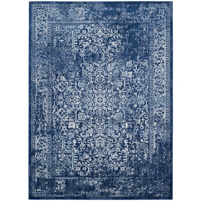 Elson Navy Area Rug Rug Size: Rectangle 67 x 9