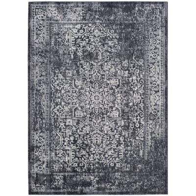 Amasa Black/Grey Area Rug Rug Size: 67 x 9