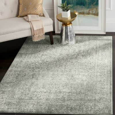 Chaudiere Silver/Ivory Area Rug Rug Size: Rectangle 51 x 76