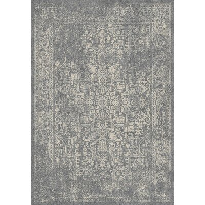 Chaudiere Silver/Ivory Area Rug Rug Size: Rectangle 67 x 9