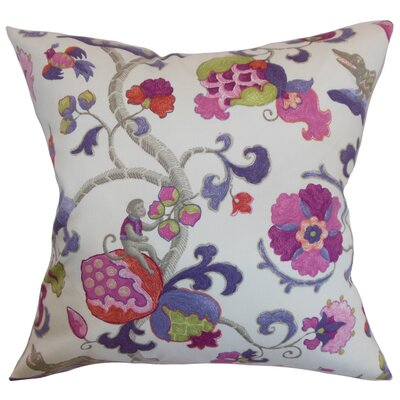 Rana Floral Cotton Throw Pillow Cover Color: Purple Sage