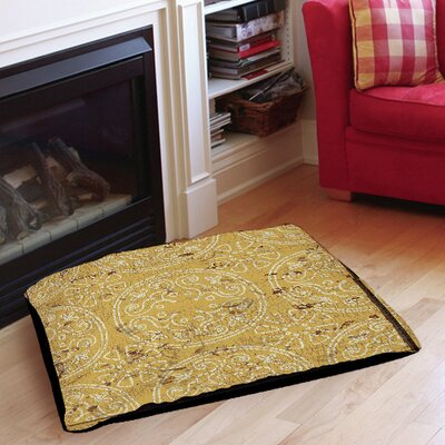 Theo Indoor/Outdoor Pet Bed Color: Yellow, Size: 40 L x 30 W
