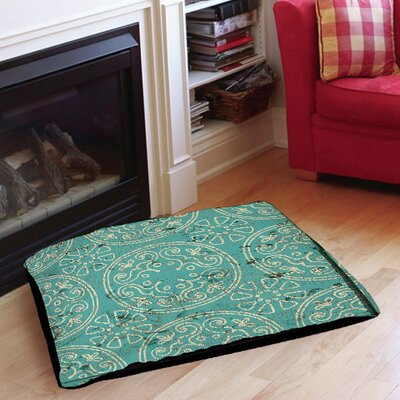 Theo Indoor/Outdoor Pet Bed Size: 50 L x 40 W, Color: Teal