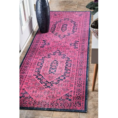 Chira Pink Area Rug Rug Size: Runner 28 x 8