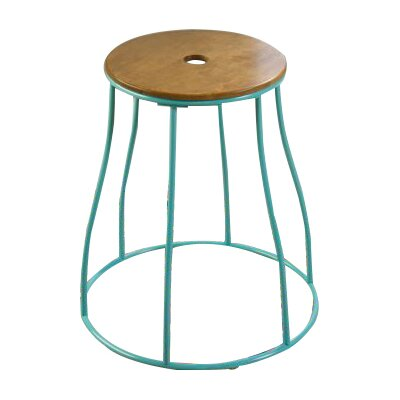 Mehdi Round End Table Finish: Aqua