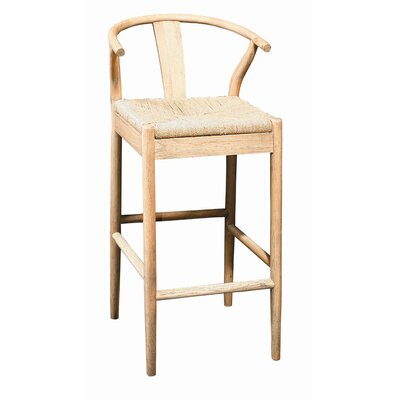 Buchanan Bar Stool (Set of 2) Frame Finish: Light Oak