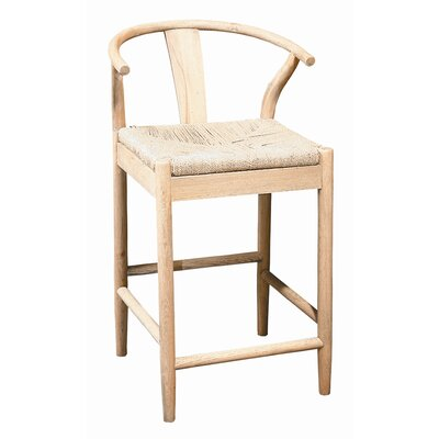 Buchanan 24 Bar Stool (Set of 2) Frame Finish: Light Oak