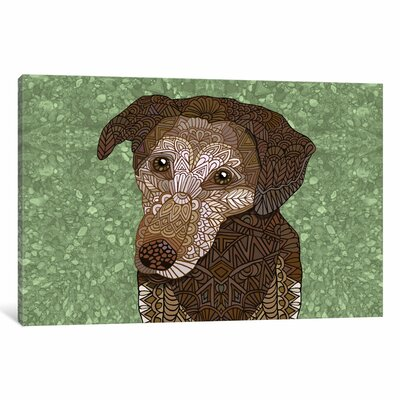 Venice Dog Graphic Art on Wrapped Canvas Size: 12