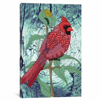 Virginia Cardinal Graphic Art on Wrapped Canvas