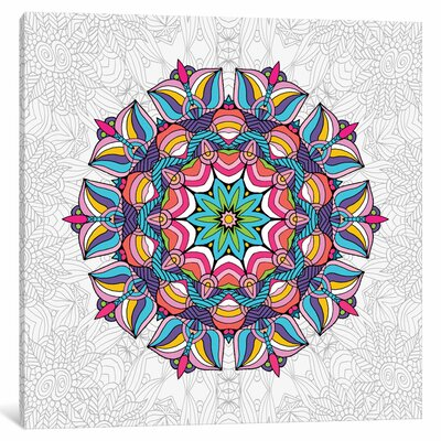 'Art Love Passion Mandala' Graphic Art Print Size: 12