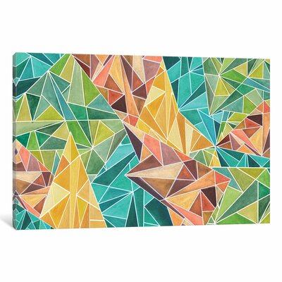 Fall Into Triangles Graphic Art on Wrapped Canvas