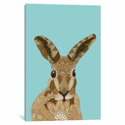 Happy Hare Graphic Art on Wrapped Canvas Size: 12