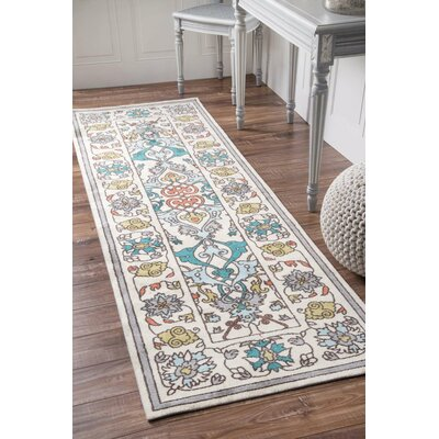 Collins Blue/Yellow Area Rug Rug Size: Runner 26 x 12