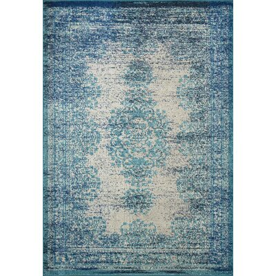 Colmar-Berg Vintage Blue Area Rug Rug Size: Rectangle 9 x 12