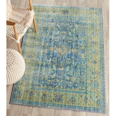 Doline Blue/Yellow Area Rug Rug Size: Runner 23 x 10